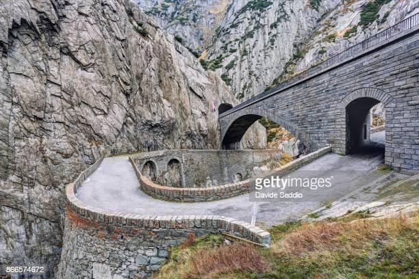 Devil's bridge (Teufelsbrücke) in the Schöllenen Gorge