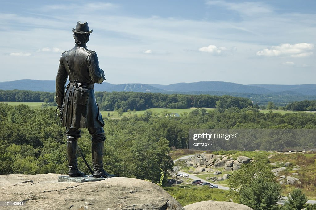 Devils Den From Little Round Top, Gettysburg Battlefield Overlook : Stock Photo