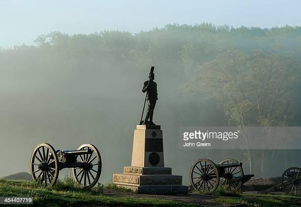 Devil's Den monument, Gettysburg National Military Park.