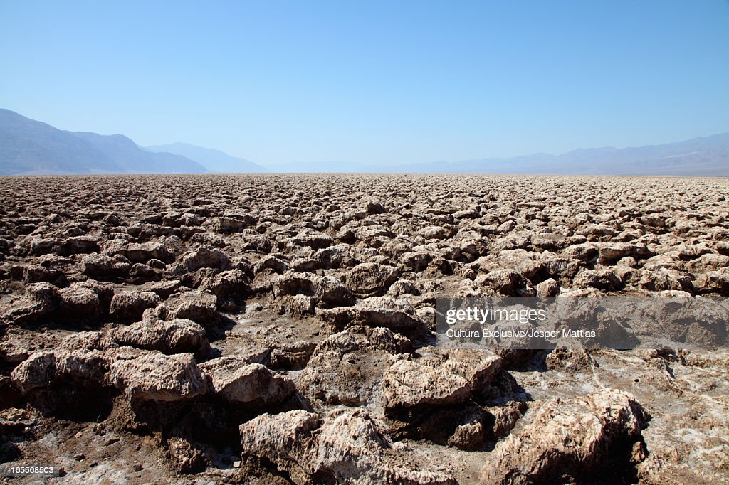 DevilÕs Golf Course in Death Valley : Stock Photo