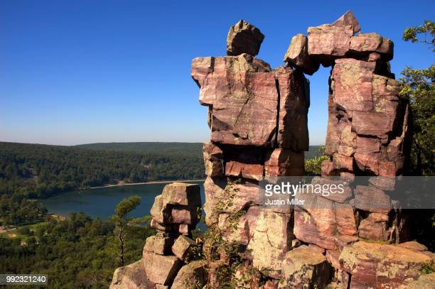 devil's lake state park, wisconsin - reid,_wisconsin stock pictures, royalty-free photos & images