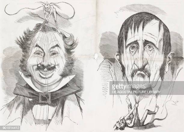 Devil's tricks a physiognomic study inspired by the stock exchange and real life raises and reductions Second Republic France illustration by Bertall...