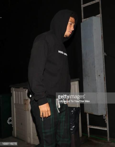 Devin Booker is seen on July 24 2018 in Los Angeles CA