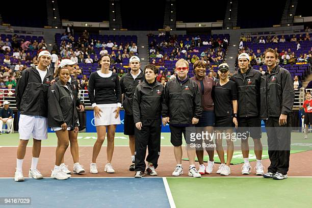 Devin Britton Chanda Rubin Liezel Huber Lindsay Davenport Andy Roddick Billy Jean King Elton John Serena Williams Anna Kournikova Tommy Haas and...