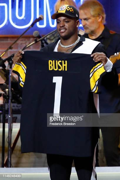 Devin Bush is drafted tenth overall by the Pittsburgh Steelers on day 1 of the 2019 NFL Draft on April 25 2019 in Nashville Tennessee