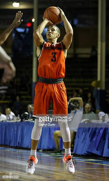 Devin Cannady of the Princeton Tigers takes a jump shot during the second half of the Pearl Harbor Invitational NCAA college basketball game against...