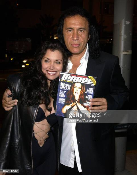 Devin DeVasquez and Gene Simmons during Tongue Magazine Party at Barfly in Los Angeles California United States