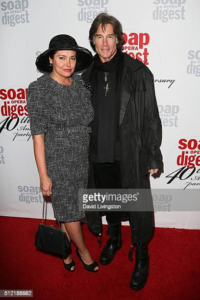 Devin DeVasquez and Ronn Moss arrive at the 40th Anniversary of the Soap Opera Digest at The Argyle on February 24 2016 in Hollywood California
