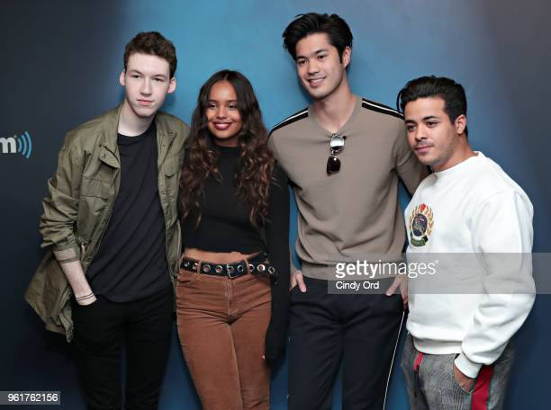 Devin Druid Alisha Boe Ross Butler and Christian Navarro of 13 Reasons Why visit the SiriusXM Studios on May 23 2018 in New York City