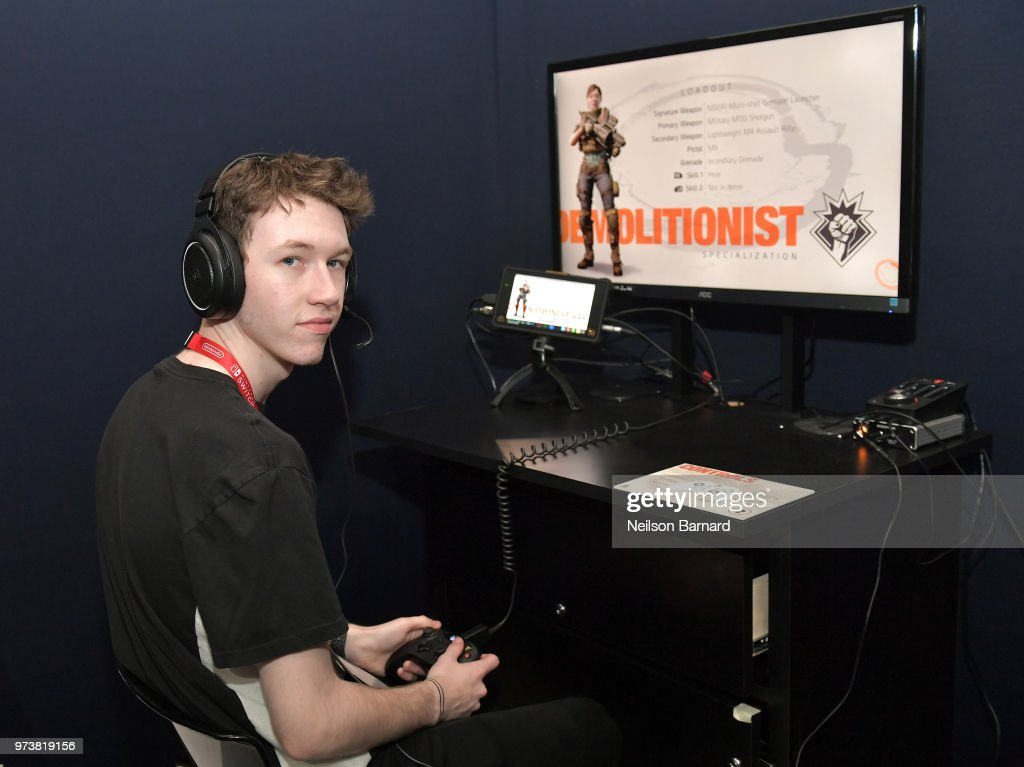 Devin Druid playing Tom Clancy's The Division 2 during E3 2018 at Los Angeles Convention Center on June 13, 2018 in Los Angeles, California.