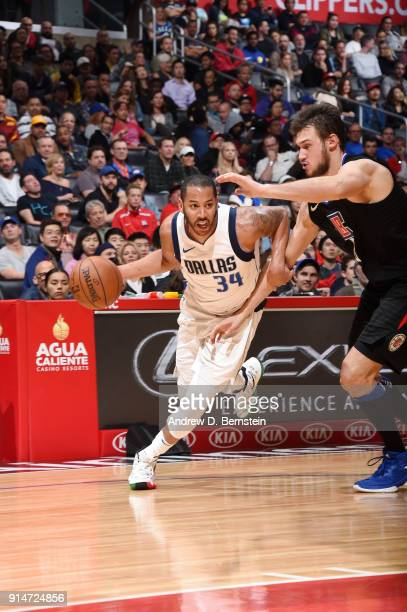 Devin Harris of the Dallas Mavericks handles the ball against the LA Clippers on February 5 2018 at STAPLES Center in Los Angeles California NOTE TO...