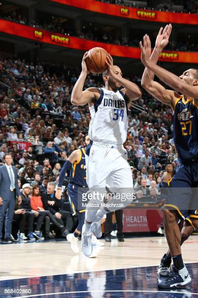 Devin Harris of the Dallas Mavericks handles the ball against the Utah Jazz on October 30 2017 at Vivint Smart Home Arena in Salt Lake City Utah NOTE...