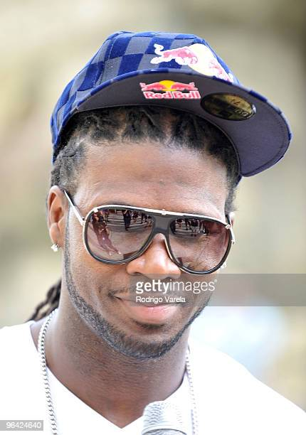 Devin Hester of the Chicago Bears attends the Red Bull Super Pool at Seminole Hard Rock Hotel on February 4 2010 in Hollywood Florida