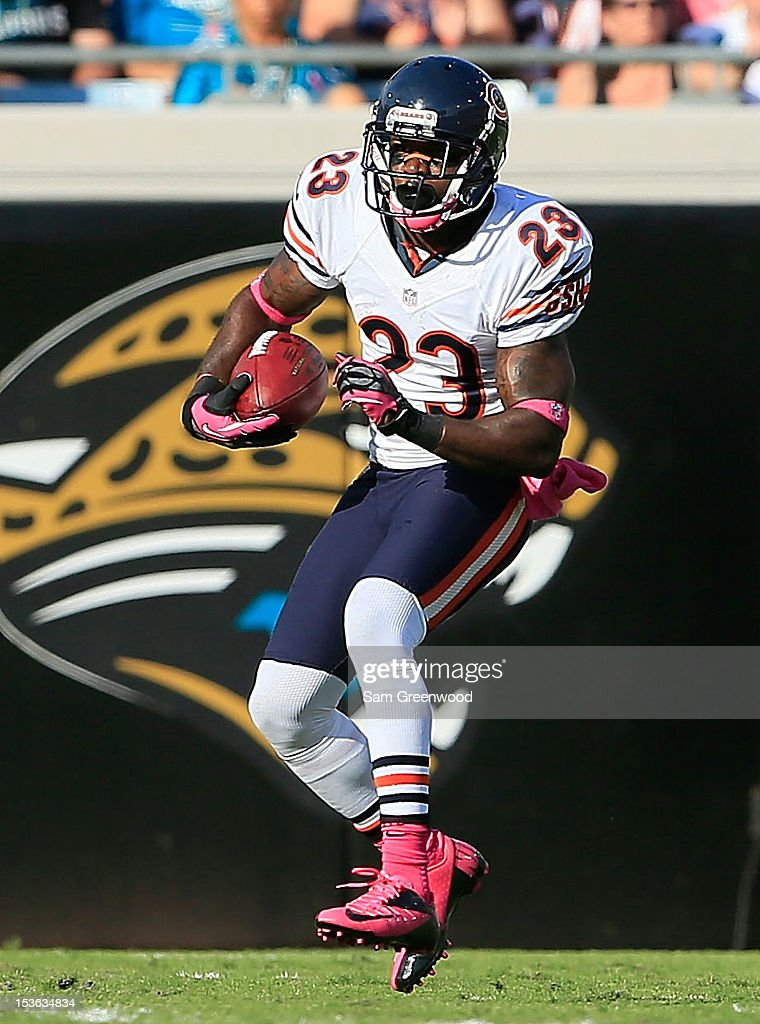 Devin Hester #23 of the Chicago Bears runs for yardage during the game against the Jacksonville Jaguars at EverBank Field on October 7, 2012 in Jacksonville, Florida.