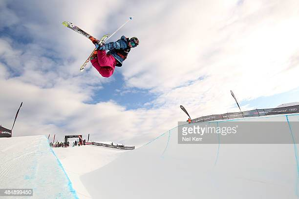 Devin Logan of the United States competes in the FIS Freestyle Ski World Cup Halfpipe Finals during the Winter Games NZ at Cardrona Alpine Resort on...