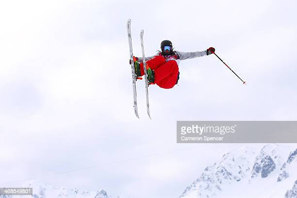 Devin Logan of the United States competes in the Freestyle Skiing Women's Ski Slopestyle Qualification on day four of the Sochi 2014 Winter Olympics...