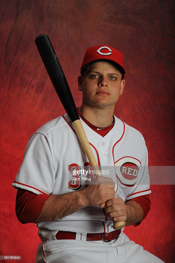 Devin Mesoraco #39 of the Cincinnati Reds poses during MLB photo day on February 16, 2013 at the Goodyear Ballpark in Goodyear, Arizona.