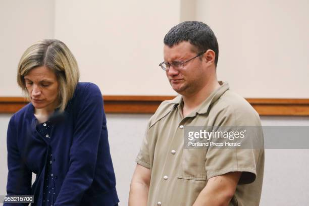 Devin RichardsonGurney reacts during his initial court appearance for an alleged charge of arson at the historic Casco schoolhouse His lawyer is Lisa...