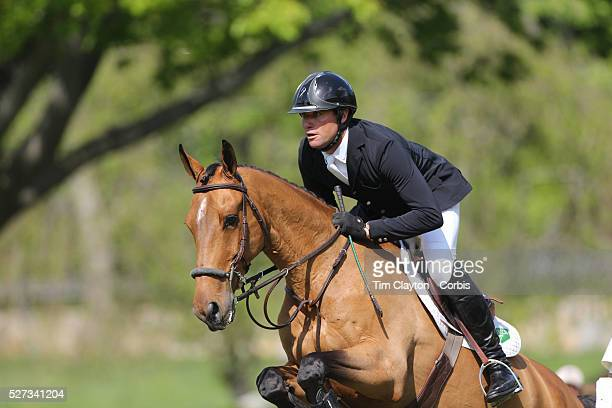 Devin Ryan riding Cooper in action during the $100000 Empire State Grand Prix presented by the Kincade Group during the Old Salem Farm Spring Horse...