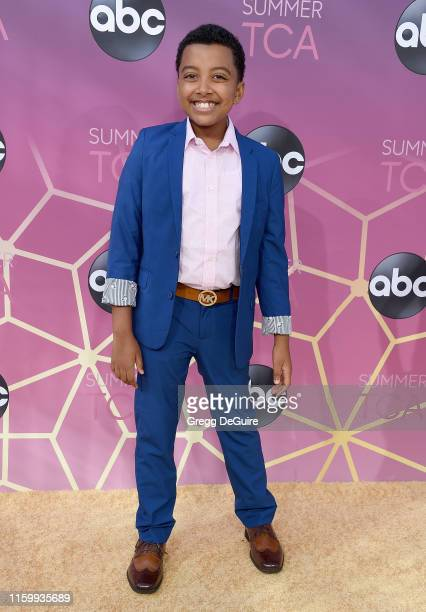 Devin Trey Campbell arrives at ABC's TCA Summer Press Tour Carpet Event on August 5, 2019 in West Hollywood, California.
