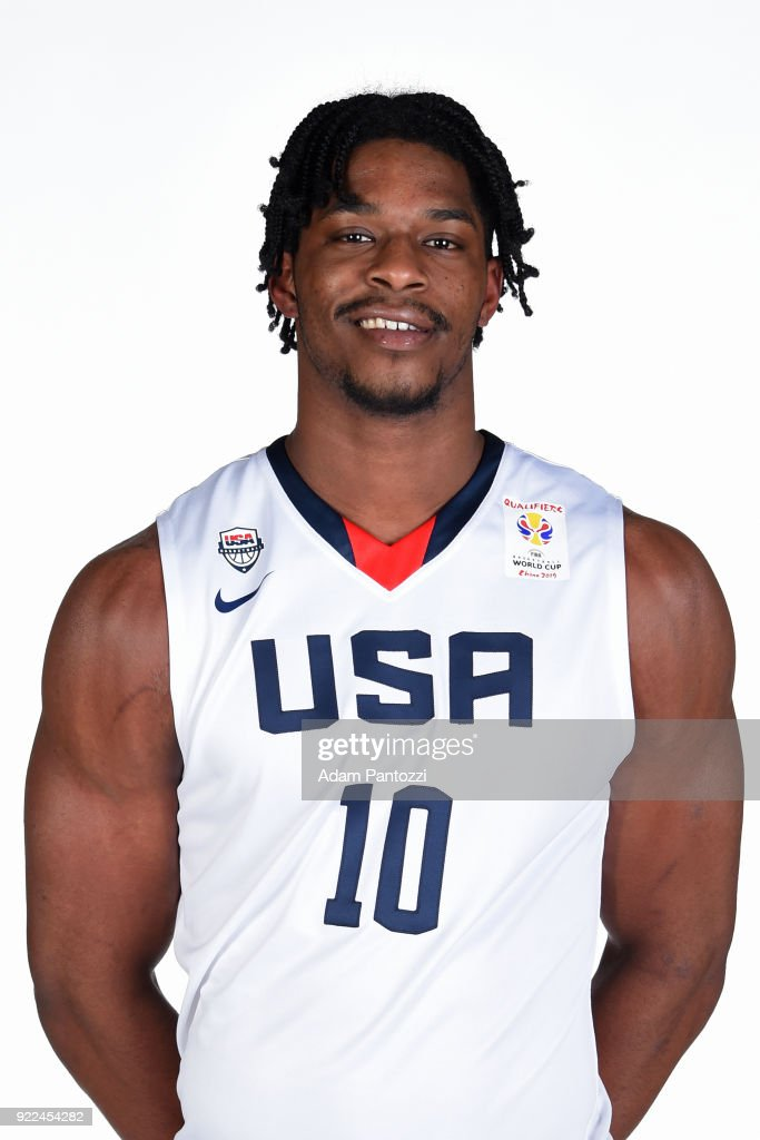 Devin Williams #10 of Team USA poses for a head shot on February 20, 2018 at the LA Clippers Training Center in Playa Vista, California.