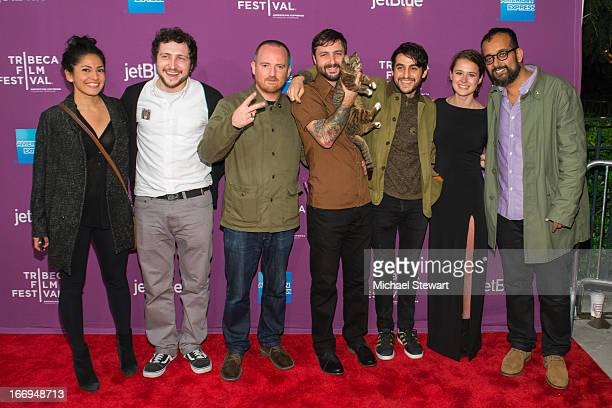 Devin Yuceil Andy Capper Mike Bridavsky Lil Bub Danilo Parra Juliette Eisner and Suroosh Alvi attend the screening of Lil Bub Friendz during the 2013...