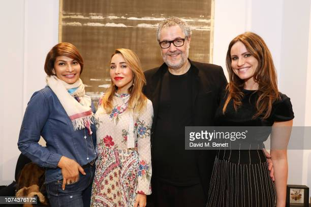 Devina Mathoorasing Katia Francesconi Pierre Bonnefille and Magdalena Gabriel attend a private view of 'Art Design' hosted by Magdalena Gabriel and...