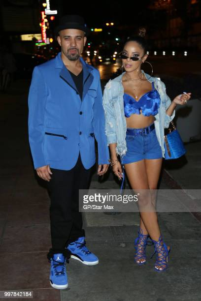 Devine Evans and Day'nah Evans are seen on July 12 2018 in Los Angeles CA
