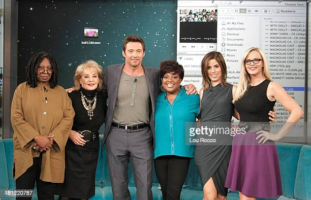 THE VIEW Devious Maids Ana Ortiz is a guest cohost and Hugh Jackman is a guest on THE VIEW 9/18/13 airing on the Walt Disney Television via Getty...