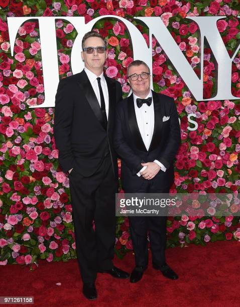 Devlin Elliott and Nathan Lane attend the 72nd Annual Tony Awards at Radio City Music Hall on June 10 2018 in New York City