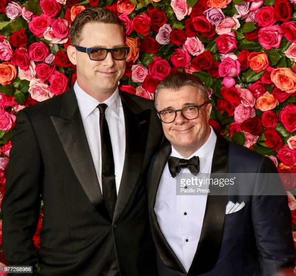 Devlin Elliott and Nathan Lane attend the 72nd Annual Tony Awards at Radio City Music Hall
