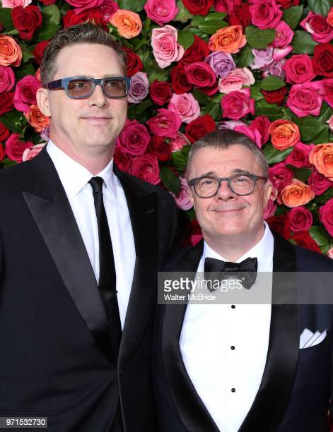 Devlin Elliott and Nathan Lane attend the 72nd Annual Tony Awards on June 10 2018 at Radio City Music Hall in New York City