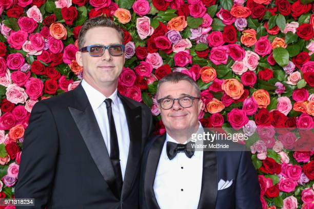 Devlin Elliott and Nathan Lane attends the 72nd Annual Tony Awards at Radio City Music Hall on June 10 2018 in New York City