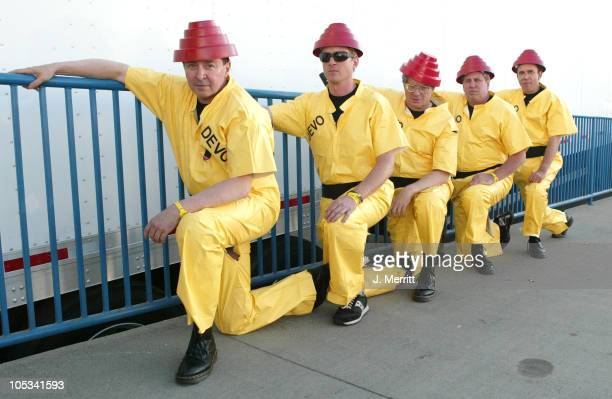 Devo during KROQ Miller Lite Island Invasion 4 Concert at Glen Helen Hyundai Pavillion in Devore California United States
