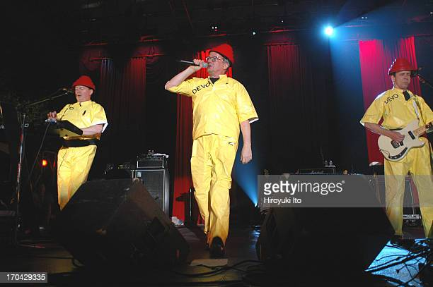 Devo performing at Central Park Summer Stage on Friday night July 23 2004This imageFrom left Jerry Casale Mark Mothersbaugh and Bob 1