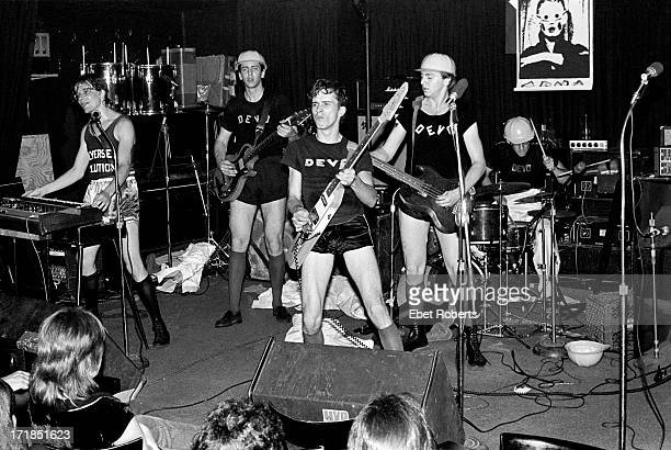 Devo photographed at MaxÂ's Kansas City in New York on May 25 1977