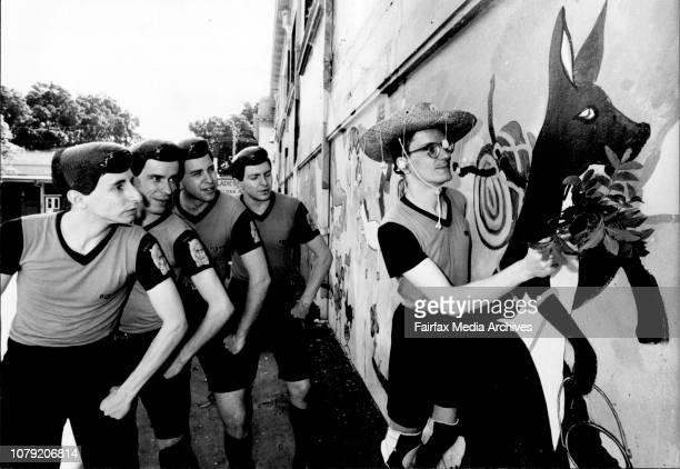 Devo pop group photographed at the Horden Pavillion todayNames Sarah Doherty January 21 1982