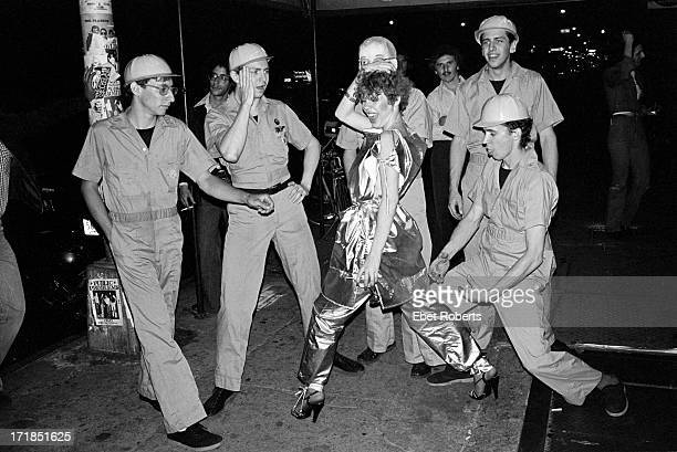 Devo with Debby in front of Max's Kansas City in New York on May 25 1977