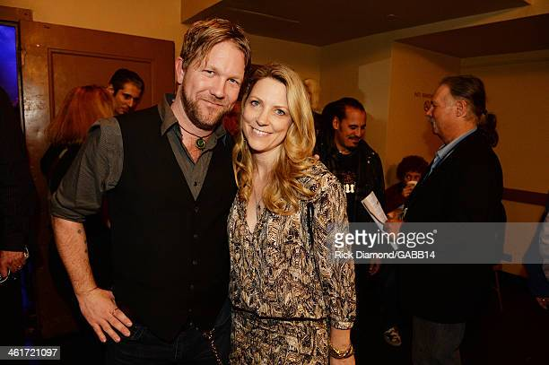 Devon Allman and Susan Tedeschi attend All My Friends Celebrating the Songs Voice of Gregg Allman at The Fox Theatre on January 10 2014 in Atlanta...