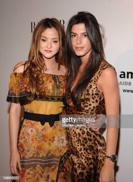 Devon Aoki and Danielle Corona during 15th Annual 'amfAR Rocks' Benefit at The Puck Building in New York City New York United States