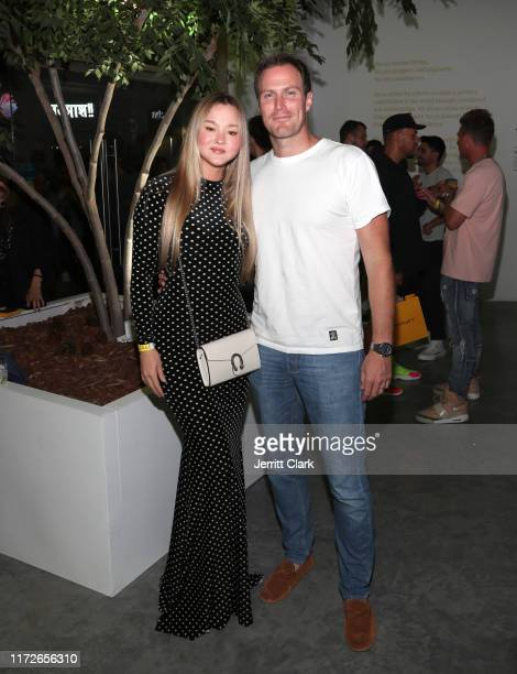 Devon Aoki and James Bailey attend Airgraft's Art Of Clean Vapor Pop-Up Launch Party on September 05, 2019 in Los Angeles, California.