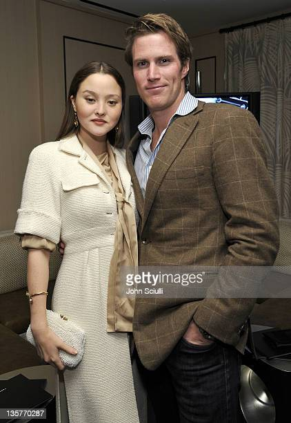Devon Aoki and James Bailey attend dinner at Hotel BelAir on December 13 2011 in Los Angeles California
