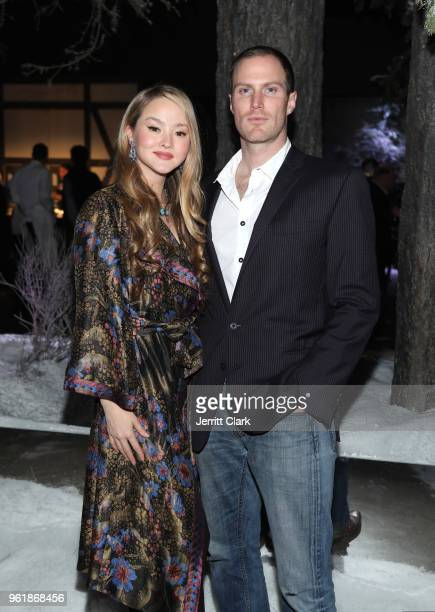 Devon Aoki and James Bailey attend Gaggenau's Pop Up Restaurant 1693 Honoring Operation Smile on May 22 2018 in Los Angeles California
