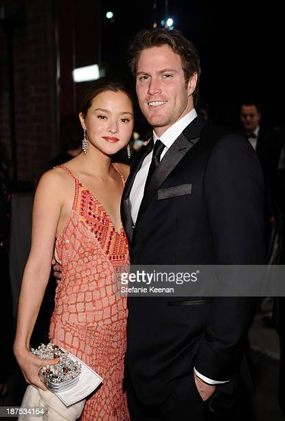 Devon Aoki and James Bailey attend the second annual Baby2Baby Gala honoring Drew Barrymore at Book Bindery on November 9 2013 in Culver City...