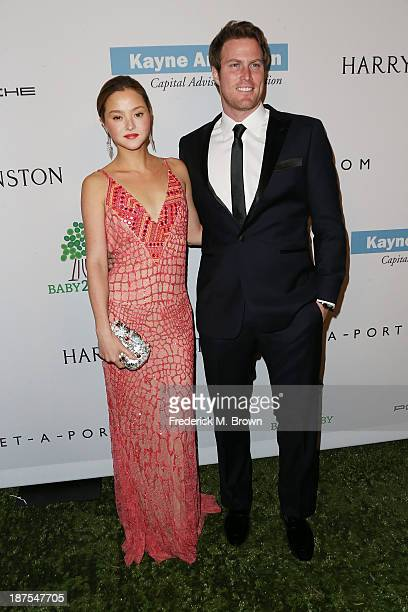Devon Aoki and James Bailey attend the Second Annual Baby2Baby Gala at the Book Bindery on November 9 2013 in Culver City California