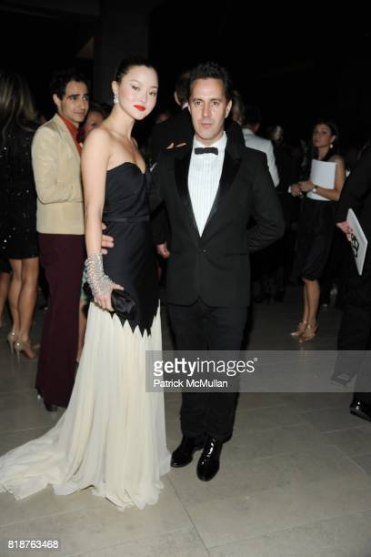 Devon Aoki and James Gardner attend 2010 CFDA Awards Cocktails at Alice Tully Hall on June 7 2010 in New York City