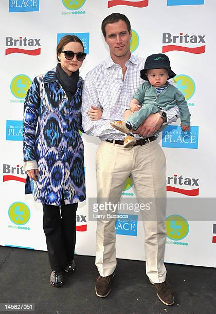 Devon Aoki James Bailey and son Hunter attend the 2012 Baby Buggy Bedtime Bash hosted by Jessica And Jerry Seinfeld on June 6 2012 in New York City