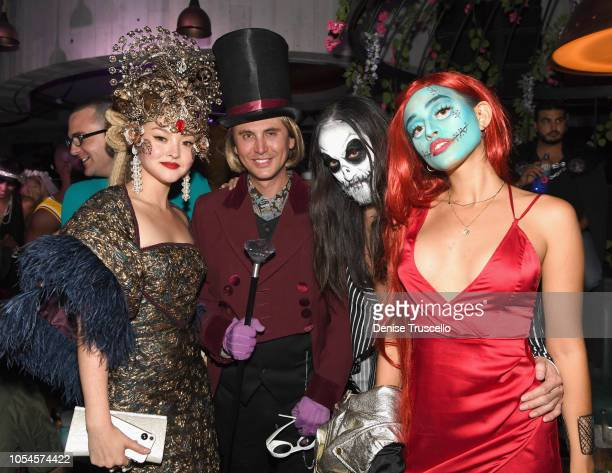 Devon Aoki Jonathan Cheban Steve Aoki and Nicole Zimmermann attend Casamigos Halloween party at CATCH Las Vegas at ARIA Resort Casino on October 27...