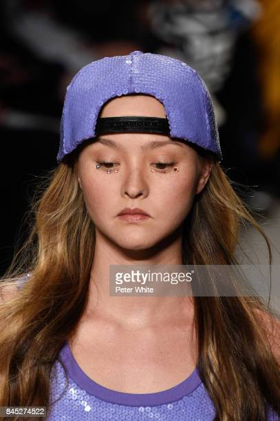 Devon Aoki the runway during the Jeremy Scott fashion show during New York Fashion Week on September 8, 2017 in New York City.