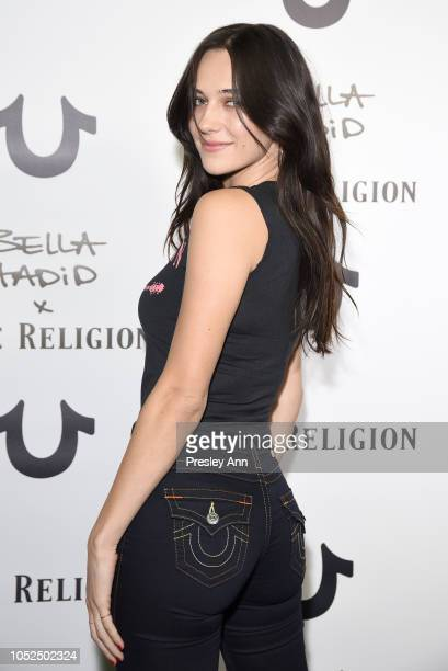 Devon Carlson attends Bella Hadid x True Religion Event Campaign Party at Poppy on October 18 2018 in Los Angeles California